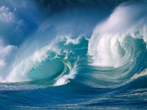 Sur les vagues