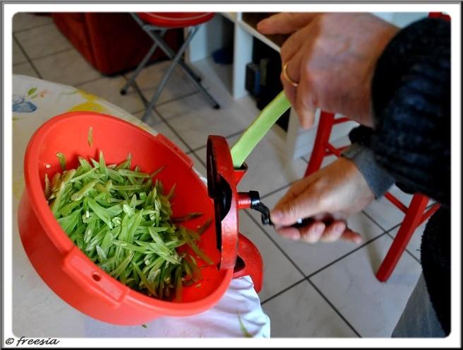 Recette belge - Haricots à couper ou